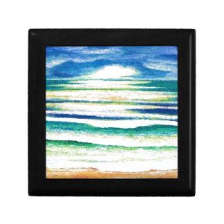 Salida del sol de la decoración de la playa de las cajas de joyas