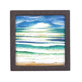 Salida del sol de la decoración de la playa de las caja de regalo de calidad