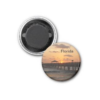 Salida del sol de la Florida Imán Redondo 3 Cm