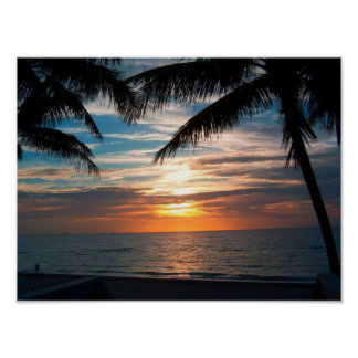 Salida del sol de la Florida Póster
