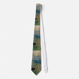 Salida del sol de la impresión de Monet (soleil Corbata Personalizada