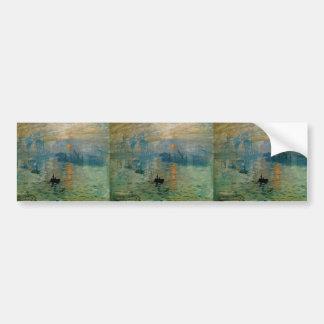 Salida del sol de la impresión de Monet (soleil le Pegatina De Parachoque