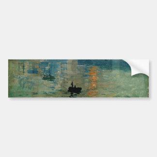 Salida del sol de la impresión de Monet (soleil le Etiqueta De Parachoque