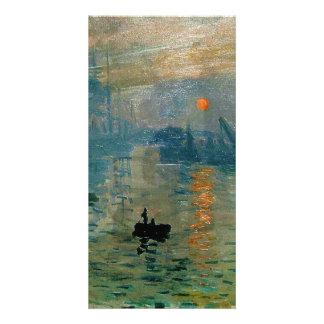 Salida del sol de la impresión de Monet (soleil le Plantilla Para Tarjeta De Foto