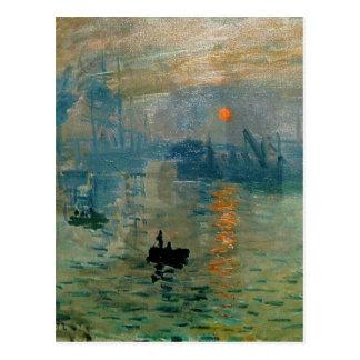 Salida del sol de la impresión de Monet (soleil le Postal