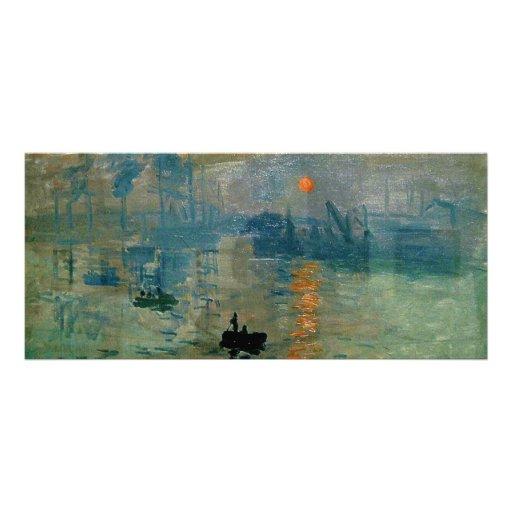 Salida del sol de la impresión de Monet (soleil le Plantilla De Lona
