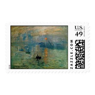 Salida del sol de la impresión de Monet (soleil Franqueo