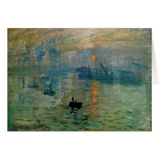 Salida del sol de la impresión de Monet (soleil Tarjeta De Felicitación