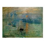 Salida del sol de la impresión de Monet (soleil Postal