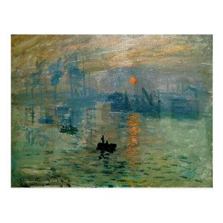 Salida del sol de la impresión de Monet (soleil Tarjeta Postal