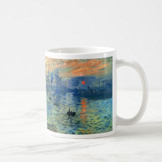 Salida del sol de la impresión Soleil Levant Cla Taza De Café