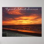 Salida del sol de la isla de Topsail Poster