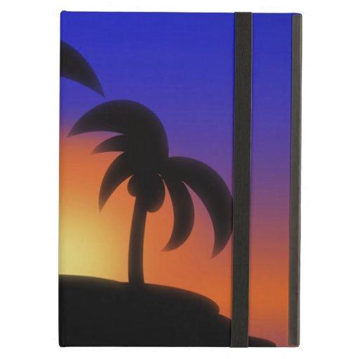 Salida del sol de la palmera