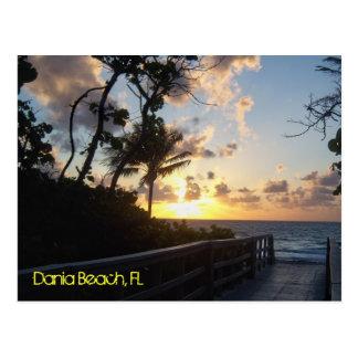 Salida del sol de la playa de Dania Tarjetas Postales
