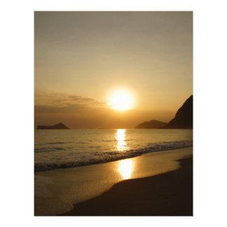 Salida del sol de la playa de Waimanalo Membretes Personalizados