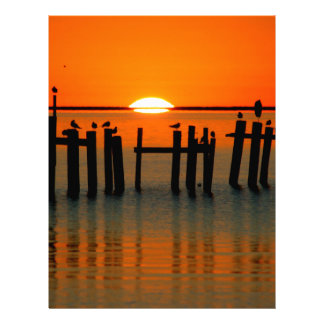 Salida del sol de la playa membretes personalizados