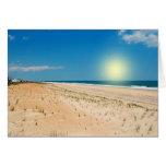 Salida del sol de la playa - notecard