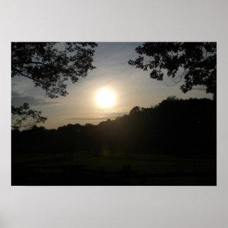 Salida del sol de la serenidad impresiones