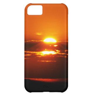 Salida del sol de la subida y del brillo carcasa iPhone 5C