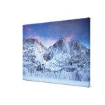Salida del sol de las cataratas de Yosemite Impresión En Lienzo Estirada