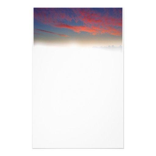 salida del sol de los efectos de escritorio personalized stationery