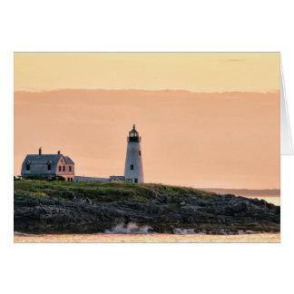 Salida del sol de madera de la luz de la isla tarjeta de felicitación