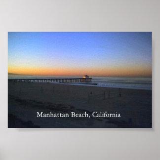 Salida del sol de Manhattan Beach Poster