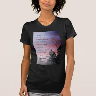Salida del sol de marzo del rezo de la serenidad camiseta