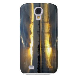 Salida del sol de Miami Beach Funda Para Galaxy S4