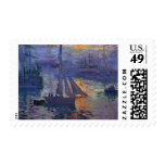 Salida del sol de Monet en el arte del canotaje de Franqueo
