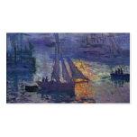 Salida del sol de Monet en el arte del canotaje de Tarjetas De Negocios