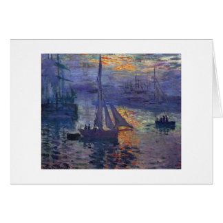Salida del sol de Monet en el arte del canotaje de Tarjeta De Felicitación