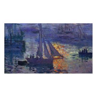 Salida del sol de Monet en el arte del canotaje de Tarjetas De Visita