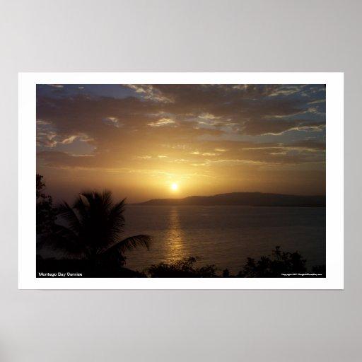 Salida del sol de Montego Bay Póster