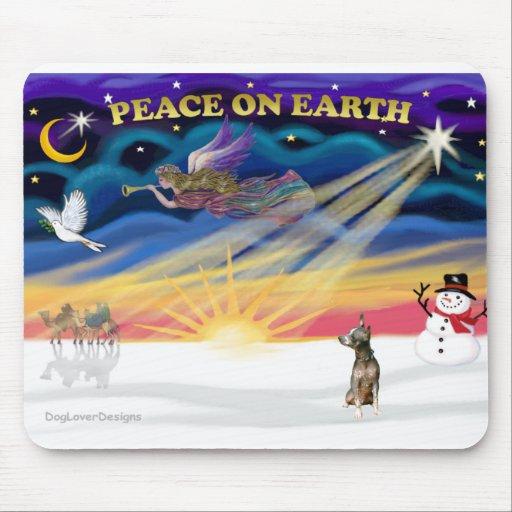 Salida del sol de Navidad - Xoloitzcuintle Alfombrilla De Ratón