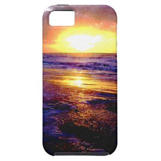 Salida del sol de Océano Atlántico iPhone 5 Fundas