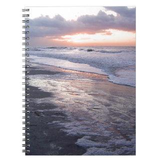 Salida del sol de Océano Atlántico Libros De Apuntes Con Espiral