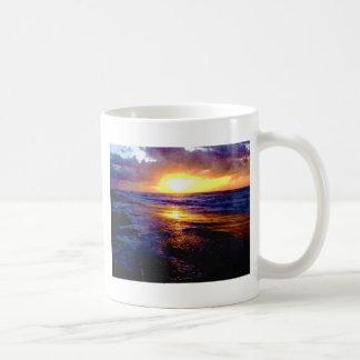Salida del sol de Océano Atlántico Taza De Café