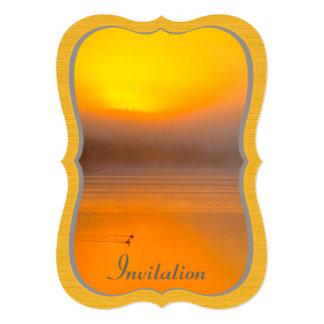 """Salida del sol de Ombre que brilla en la foto de Invitación 5"""" X 7"""""""