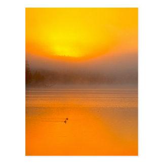 Salida del sol de Ombre que brilla en la foto de Postales