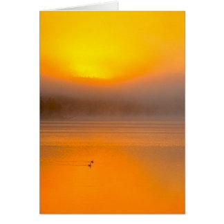 Salida del sol de Ombre que brilla en la foto de Tarjeta De Felicitación