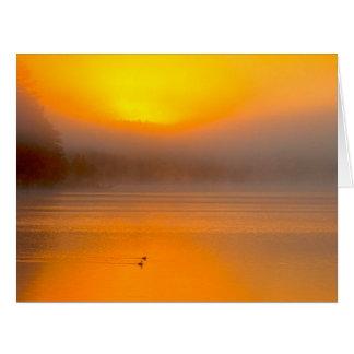 Salida del sol de Ombre que brilla en la foto de Tarjeta De Felicitación Grande
