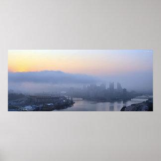 Salida del sol de Pittsburgh Poster