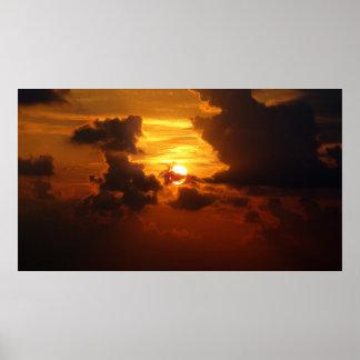 Salida del sol de Samui de la KOH en Tailandia Póster