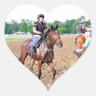 Salida del sol de Saratoga 150 Pegatina Corazón Personalizadas