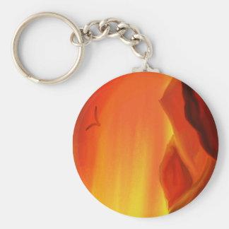 Salida del sol de Sinaí Llavero Redondo Tipo Pin