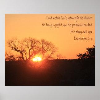 Salida del sol de Tejas, cita de la escritura de D Poster