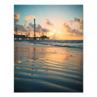 Salida del sol de Tejas en Galveston Cojinete