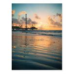 Salida del sol de Tejas en Galveston Postal