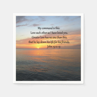 SALIDA DEL SOL DEL 15:12 DE JUAN SOBRE EL OCÉANO SERVILLETAS DE PAPEL